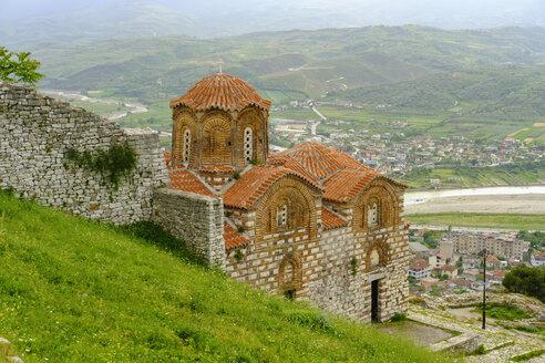 Albania, Berat County, Berat, Shen Triadha church - SIEF07861