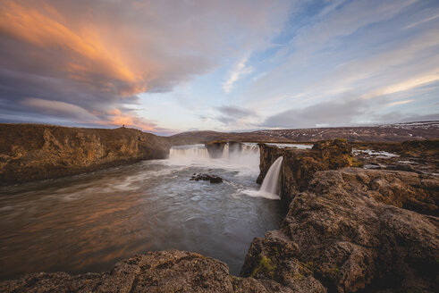Iceland, Goðafoss waterfall in the evening - KEBF00870
