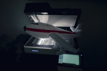 Inflatable airplane on copying machine - GUSF01141