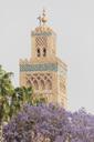 Morocco, Marrakesh, view to minaret of Koutoubia mosque - MMAF00495