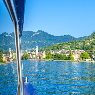 Italy, Lombardy, Salo, Lake Garda, ferry, reflection - MHF00449