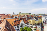 Germany, Bavaria, Munich, City Center and Cathedral of Our Lady - THAF02239