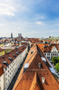 Germany, Bavaria, Munich, City Center and Cathedral of Our Lady - THAF02242