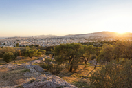 Greece, Athens, City view at sunset - MAMF00210