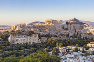 Greece, Athens, View of the Acropolis from Pnyx - MAMF00213