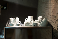 Used coffee cups in a box - AFVF01452