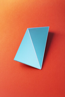 Broken rectangle shaped mirror over red background - DRBF00073