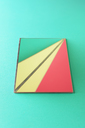 Triangle shaped mirrors over green background - DRBF00079