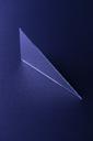 Triangle shaped mirror on dark blue ground, 3D Rendering - DRBF00082