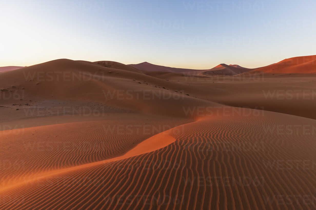 Africa, Namibia, Namib desert, Naukluft National Park, sand dune in the morning light at sunrise - FOF10107 - Fotofeeling/Westend61