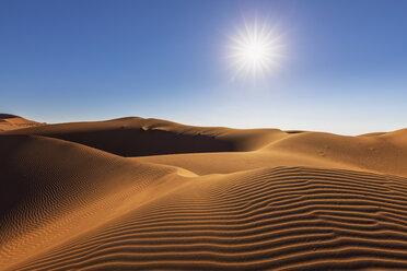 Africa, Namibia, Namib desert, Naukluft National Park, sand dune against the sun - FOF10113