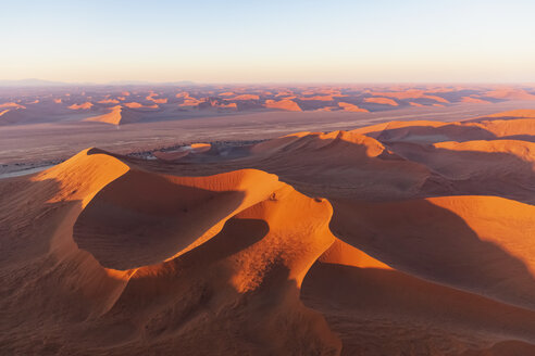 Africa, Namibia, Namib desert, Namib-Naukluft National Park, Aerial view of desert dunes - FOF10116
