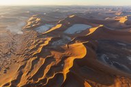 Africa, Namibia, Namib desert, Namib-Naukluft National Park, Aerial view of desert dunes, Dead Vlei and 'Big Daddy' in the morning light - FOF10119