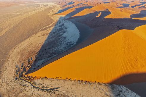 Africa, Namibia, Namib desert, Namib-Naukluft National Park, Aerial view of desert dunes - FOF10122