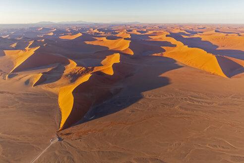 Africa, Namibia, Namib desert, Namib-Naukluft National Park, Aerial view of desert dune 45 - FOF10131