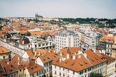 Czechia, Prague, cityscape seen from the old town hall - GEMF02299