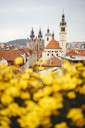 Czechia, Prague, view to Basilica of St. James and Teyn Church in the background - GEMF02314