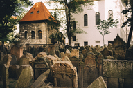 Czechia, Prague, tombstones on the old Jewish Graveyard - GEM02332