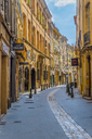 France, Provence, Aix-en-Provence, alley in the old town - FRF00719
