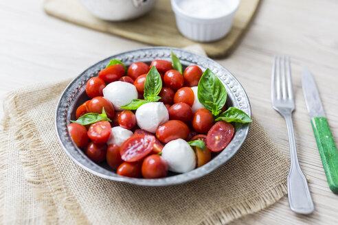 Italian food, caprese, mozzarella and tomatoes and basil - GIOF04239