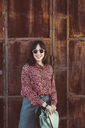 Portrait of a fashionable woman in the city - SUF00553