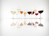 Various glasses with wine, prosecco and champagne - KSWF01968