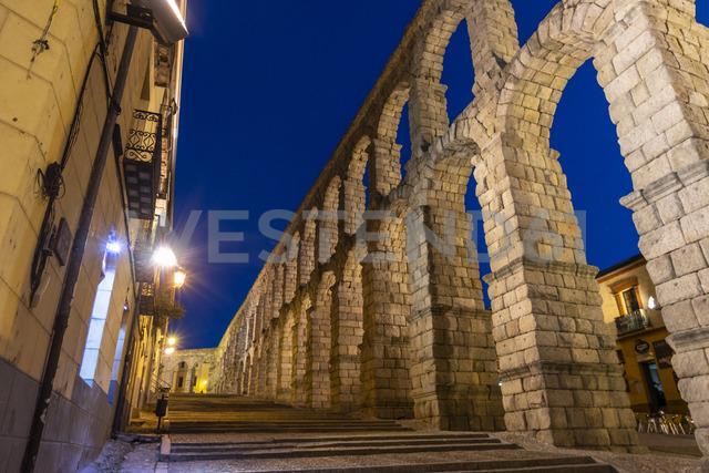 Spain, Castile and Leon, Segovia, Aqueduct - JSMF00431