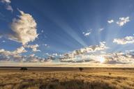 Africa, Botswana, Kgalagadi Transfrontier Park, Mabuasehube Game Reserve, Mabuasehube Pan at sunrise - FOF10204
