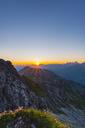 Germany, Bavaria, Allgaeu, Allgaeu Alps, Alpine pasque flower at sunrise - WGF01231