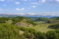 Albania, Qark Korca, Pindos mountains in the background - SIEF07939