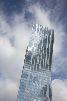 Poland, Warsaw, part of glass facade of modern apartment tower - FCF01480
