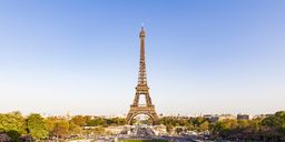 France, Paris, Panoramic view, Place de Varsovie and Eiffel Tower - WDF04799