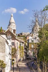 France, Paris, Montmartre, Place Dalida, Rue de l'Abreuvoir, alley - WDF04811