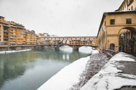 Italy, Florence, view to Ponte Vecchio in winter - MGIF00212