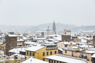 Italy, Florence, view at snow-covered cityscape - MGIF00221