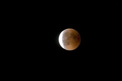 Germany, Rosenheim, lunar eclipse - ZCF00650
