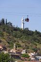 Georgia, Tbilisi, Cable car with Kartlis Deda monument - WWF04273