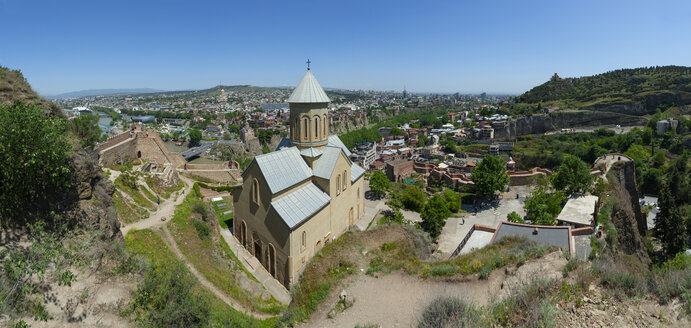 Georgia, Tbilisi, St. Nicholas' Church seen from Narikala fortress - WWF04315