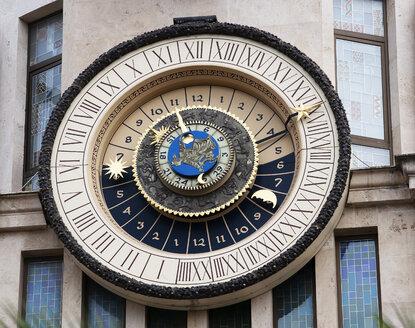 Georgia, Adjara, Batumi, astronomical clock at the former National Bank - WWF04372