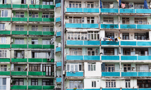 Georgia, Adjara, Batumi, Old apartment building, close up - WWF04375
