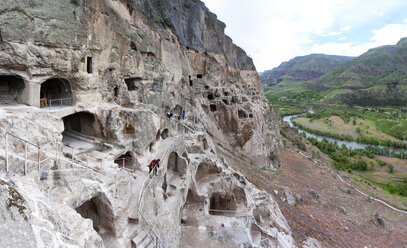 Georgia, Samtskhe-Javakheti, Cave city Vardzia - WWF04387