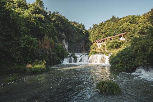 China, Guizhou, Tianhe Pool Park, waterfall - KKAF01523