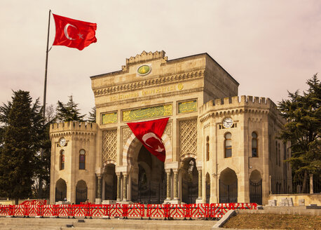 Turkey, Istanbul, Gate of the university at Beyazit Square - JUNF01146