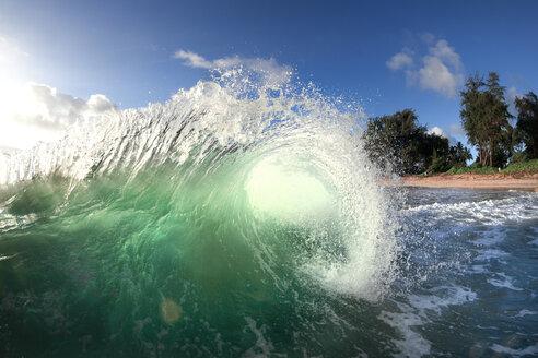 An Ocean Wave Approaching Shore On Oahu's East Side - AURF02940