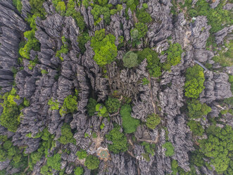 China, Shilin, Karst, Stone forest seen from above - KKAF01550