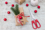 Wrapping Christmas presents - JUNF01169
