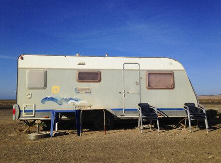 Spain, Canaray Islands, Fuerteventura, caravan - WWF04413