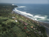 Indonesia, Bali, Aerial view of Balian beach - KNTF01244