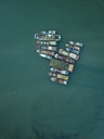 Indonesia, Bali, Aerial view of old boats - KNTF01253