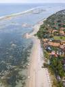 Indonesia, Bali, Aerial view of Sanur beach - KNTF01271